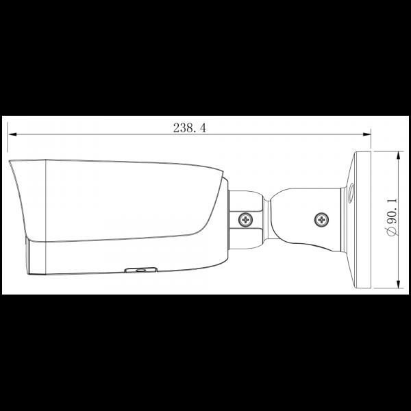 Tiandy TC-C35US Spec: I3/A/E/Y/M/2.8-12mm – Side View