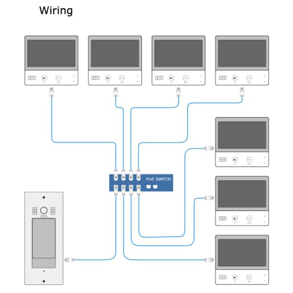 IX850 Intelicom Intercom Flush Mount Wiring Diagram