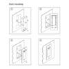 IX850 Intelicom Intercom Flush Mounting
