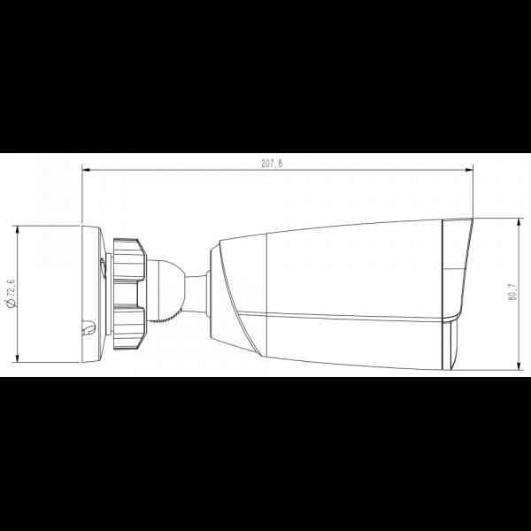 Tiandy TC-NC514S, TC-C35JS Spec- I5 E 4mm 5MP Starlight IR Bullet Camera (4mm) – 5
