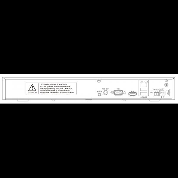 TC-R3210 Spec I F H.265 2HDD 10ch Face Recognition NVR-3 (Unit: mm)