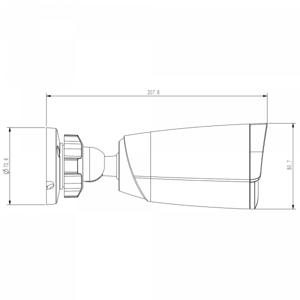 Tiandy TC-C38JS Spec I5 E 4mm 8MP Starlight IR Bullet Camera – 5