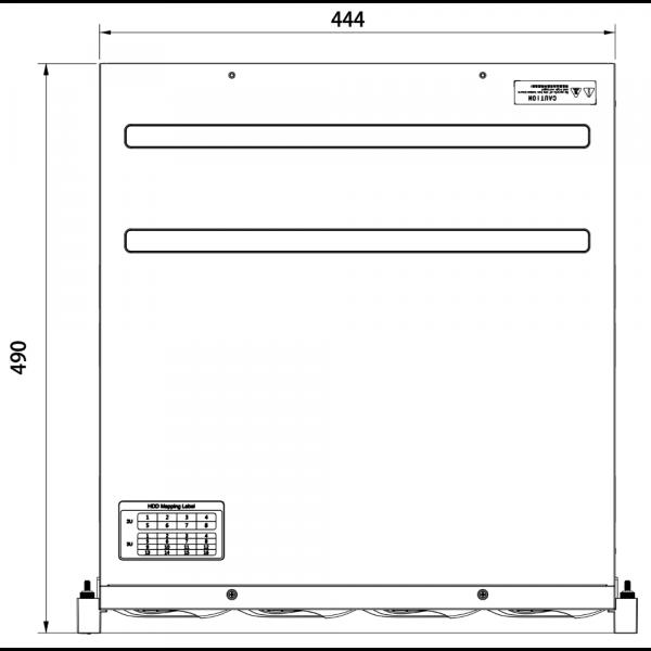 Tiandy TC-R31680 Spec- E B N H.265 16HDD 80ch NVR – 4