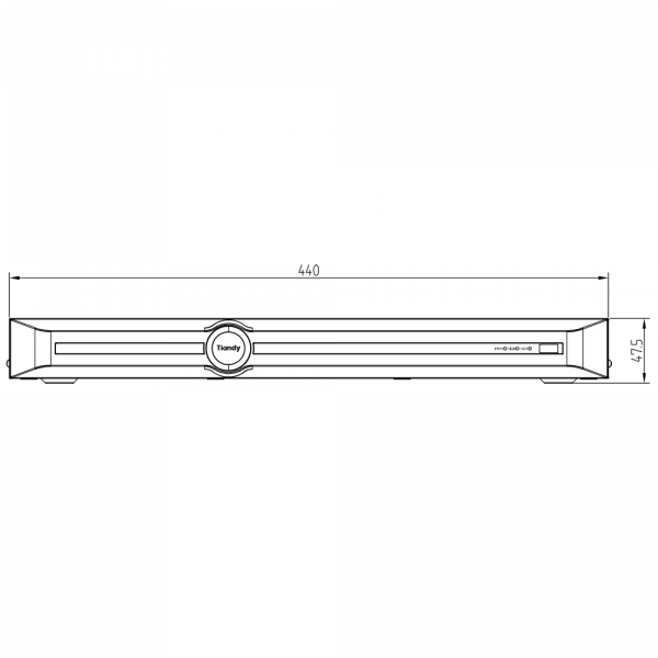 Tiandy TC-R3220 Spec- I B P H H.265 2HDD 20CH PSE NVR-4 (Unit: mm)