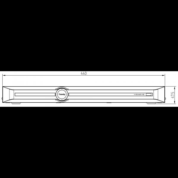 Tiandy TC-R3220 Spec- I B P8 K H.265 2HDD 20ch PSE NVR – 4(Unit: mm)
