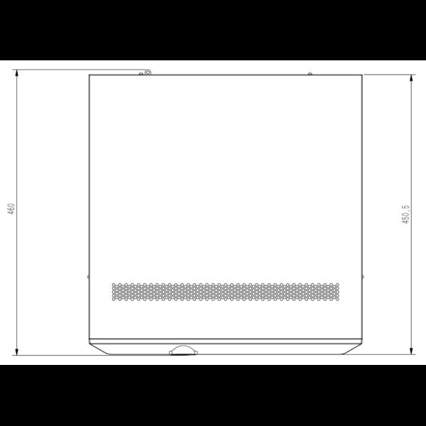 Tiandy TC-R3840 Spec- I B N H.265 8HDD 40ch NVR – Dimensions