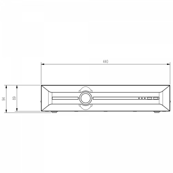 Tiandy TC-R3880 Spec- I B N H.265 8HDD 80ch NVR-3 (Unit: mm)