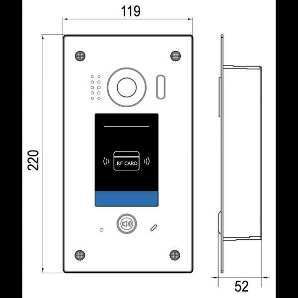 intelicom DT611ID – Flush Mount – 2