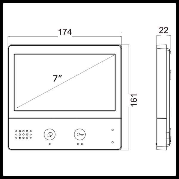 intelicom IX471 IP Monitor 4 – Dimensions