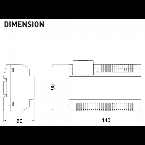 intelicom_PC6B – Dimensions