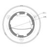 TC-C32FP Spec- W E Y 2.8mm Tiandy 2MP Fixed Color Maker Turret CCTV Camera - Dimension Mounting