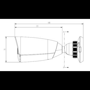 TC-C32JS Spec I5 E 2.8mm Tiandy 2MP Starlight IR Bullet CCTV Camera - Dimensions