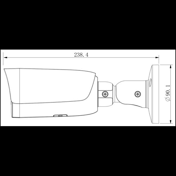 TC-C32UN Spec I8 A E Y M 2.8-12mm Tinady 2MP Motorized IR Bullet Camera – Dimensions