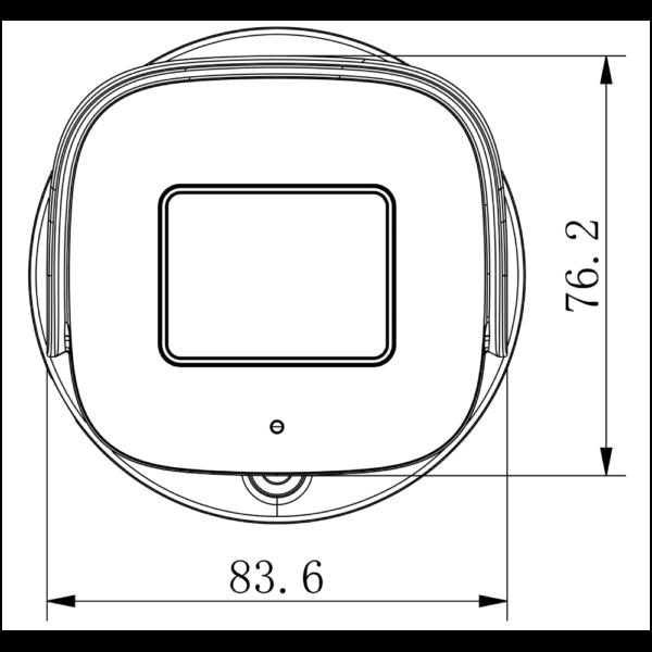 TC-C32UN Spec I8 A E Y M 2.8-12mm Tinady 2MP Motorized IR Bullet Camera – Mounting Details