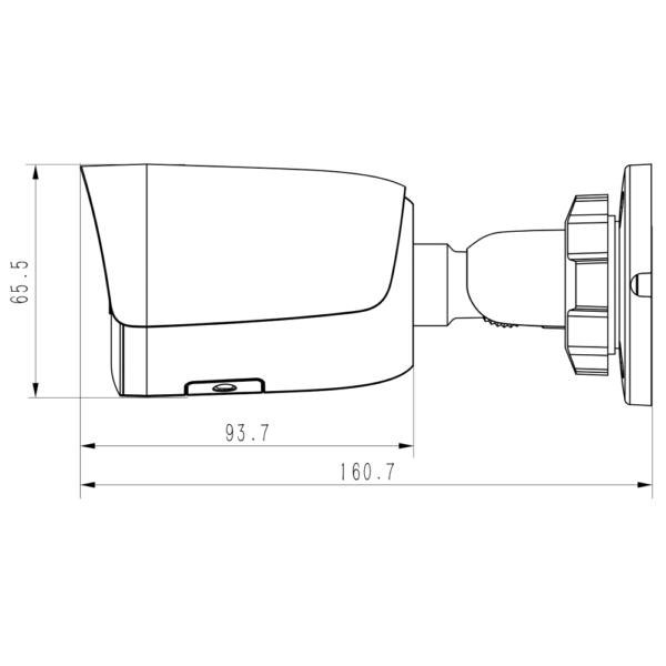 TC C32WP Spec I5 E Y M 2.8MM Tiandy 2MP Camera Fixed Super Starlight – Dimensions (Units: mm)