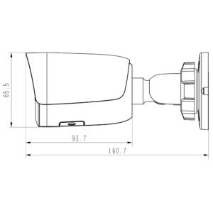 TC-C32WS Spec I5 E Y M H 2.8mm Tiandy 2MP Starlight IR Bullet CCTV Camera - Dimensions