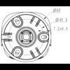 TC-C32WS Spec I5 E Y M H 2.8mm Tiandy 2MP Starlight IR Bullet CCTV Camera - Mounting Details
