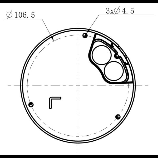 TC-C35KS Spec I3 E Y 2.8mm Tiandy 5MP Fixed Starlight IR Dome Camera – Mounting Details