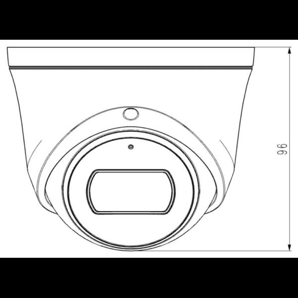 TC-C38XS Spec I3 E Y M 2.8mm Tiandy 8MP Fixed Starlight IR Turret Camera – Dimensions