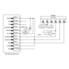 XK2 Wiring Diagram as Standalone Keypad with Access Control Power Supply
