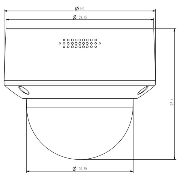 Tiandy TC-C35MP Spec-I5-A-E-Y-M-H-2.7-13.5mm 5mp – Dimensions