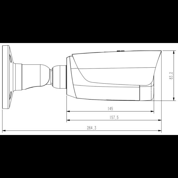 Tiandy TC-C38TS Spec-I8-A-E-Y-M-H-2.7-13.5mm- 8MP – Dimensions