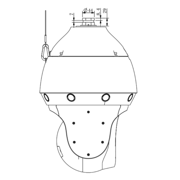 Tiandy TC-H3169M Spec-44X-LW-P-A – Side Dimension