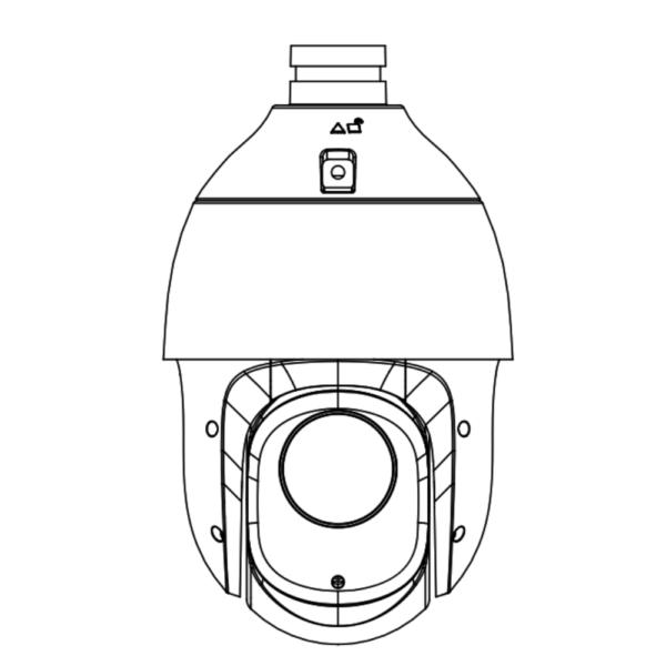 Tiandy TC-H324S Spec-25X-I-E-V – Front Drawing