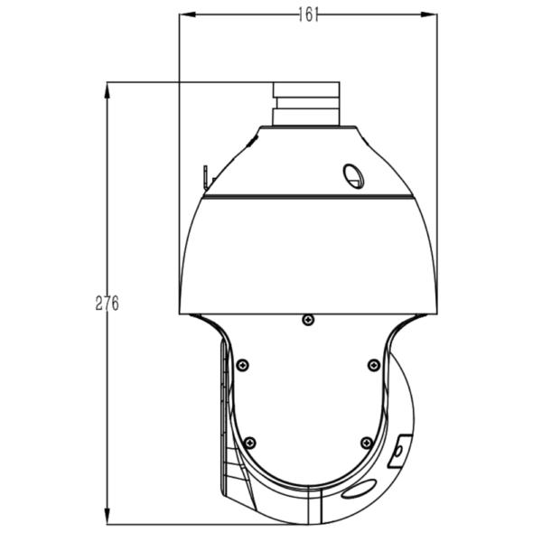 Tiandy TC-H324S Spec-25X-I-E-V – Side Dimension