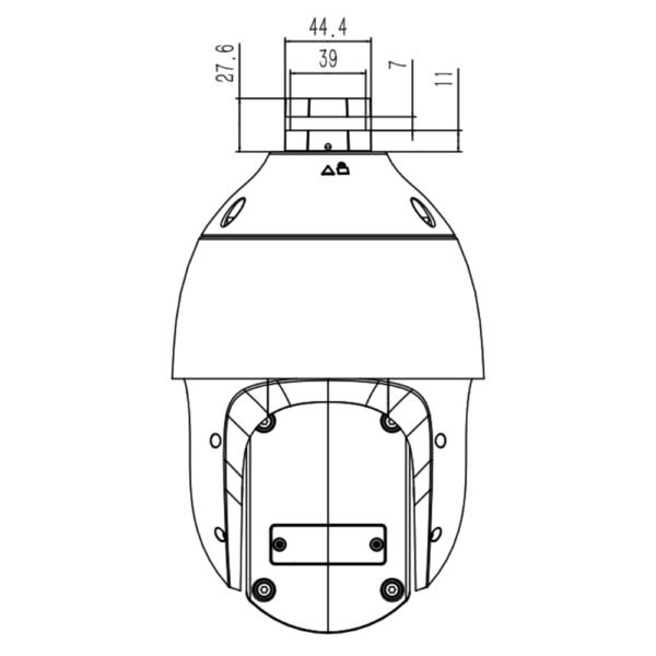 Tiandy TC-H324S Spec-25X-I-E-V – Top Dimension