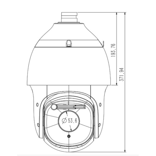 Tiandy TC-H326M Spec-44X-IW-A – Front Dimension