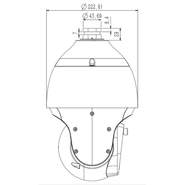 Tiandy TC-H326M Spec-44X-IW-A – Side Dimension