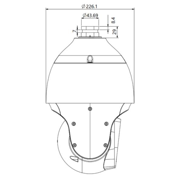 Tiandy TC-H326S Spec- 25X-I-E-C – Top Dimension