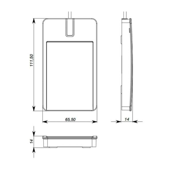 U-Prox Desktop Dimention Drawing