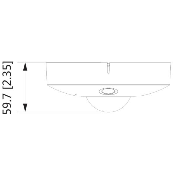 DH-IPC-EBW81242P – Front Dimension