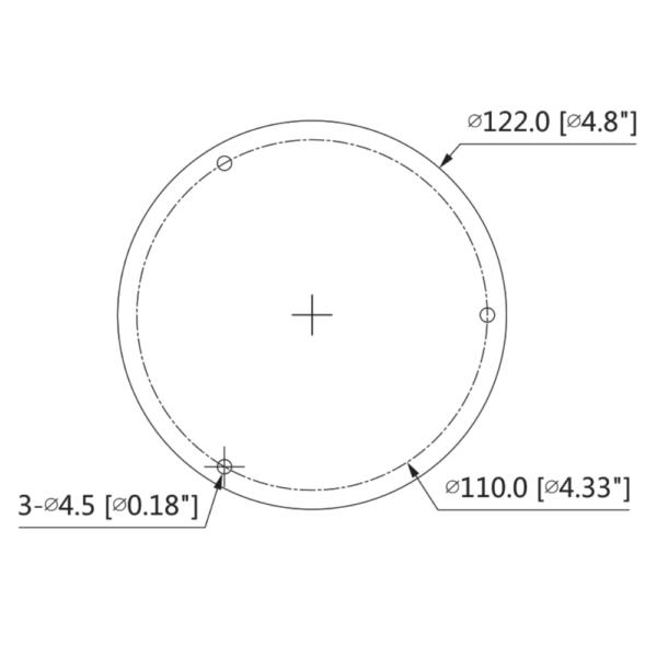 DH-IPC-HDBW3841R-ZAS – Back Dimension
