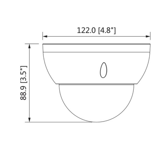 DH-IPC-HDBW3841R-ZAS – Front Dimension