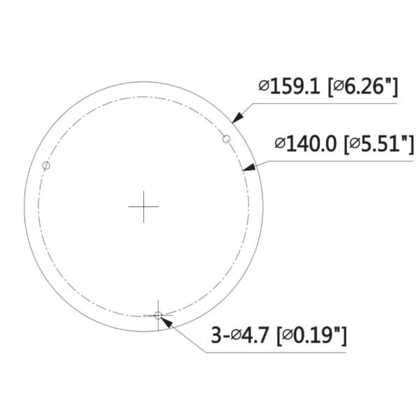 DH-IPC-HDBW5541EP-Z5E -Back Dimension