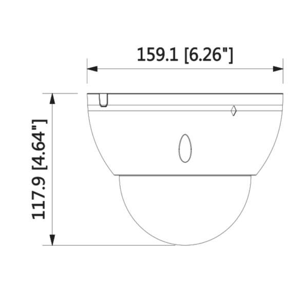DH-IPC-HDBW5541EP-Z5E – Front Dimension