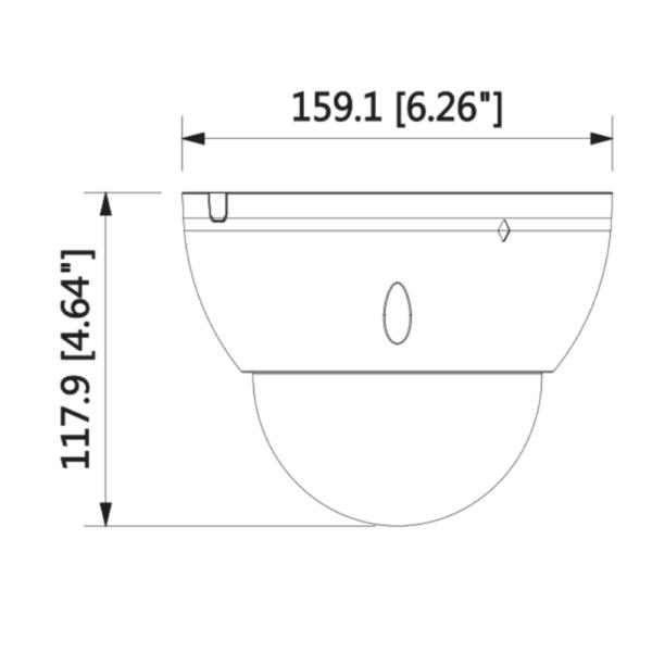 Dahua DH-IPC-HDBW5541EP-ZE – Front Dimension