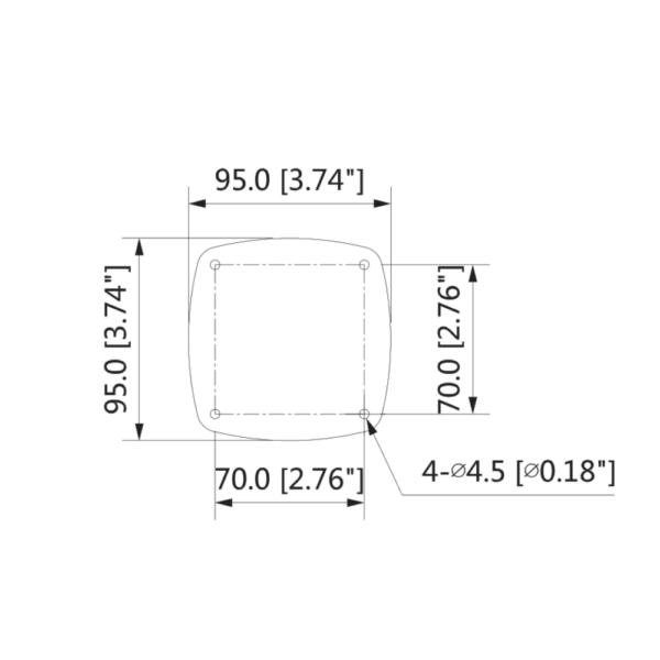 Dahua DH-IPC-HFW5442EP-ZE – Front Dimension