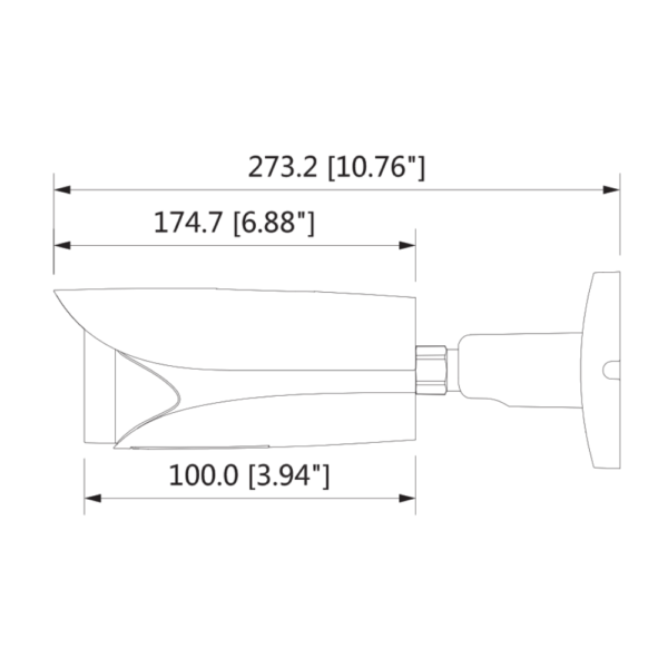 Dahua DH-IPC-HFW5442EP-ZE Side Dimension