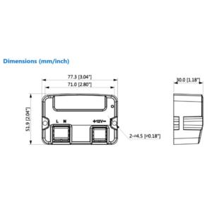 Dahua DH-PFM320D-015 - Dimension