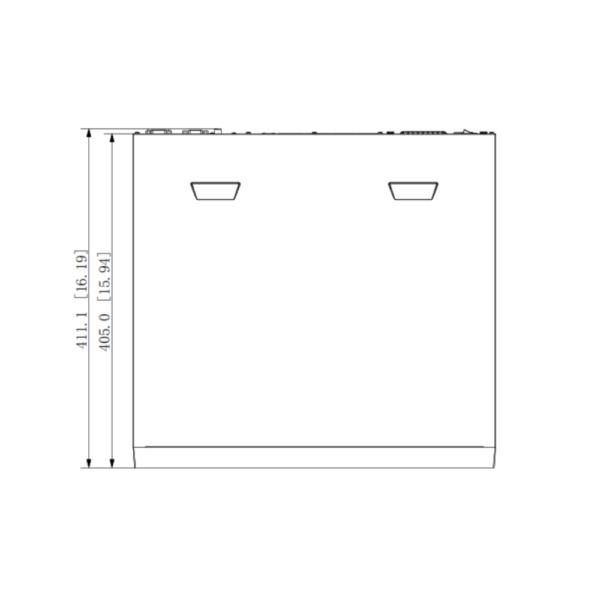 Dahua DHI-NVR5432-16P-I Side Dimension