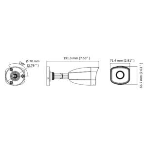 HiLook-IPC-B140H-M-4mm - Dimension