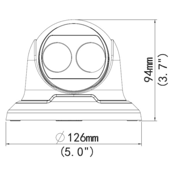 IPC3615ER3-ADUPF28M UNV 5MP Starlight – Dimensions
