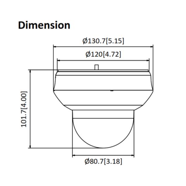 PTZ-N2404I-DE3 (C) HiLook 4MP 4X IP PTZ Camera – Dimensions