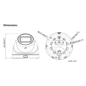 IPC-T641H-Z-HiLook - Dimension