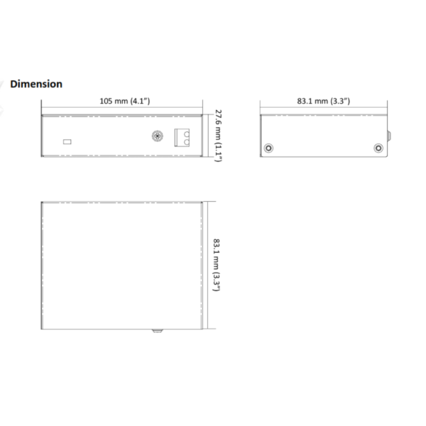 NS-0105P-35B – Dimension