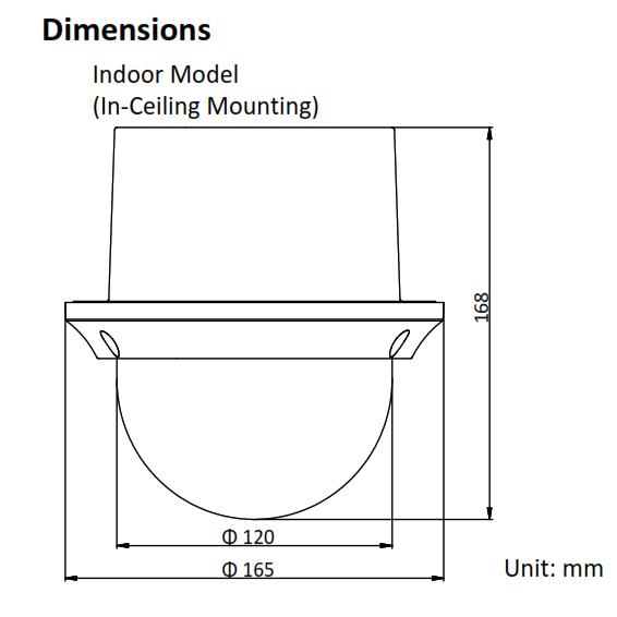 PTZ-N4215-DE3 (B) HiLook 2MP 15× IP PTZ Camera Dimension